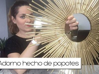 DIY - ADORNO DE PARED HECHO DE POPOTES | ELYSSA'S CUBBY