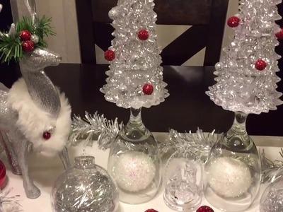 DIY Decoracion de la tienda de 99 centavos renos y arbolitos navideños decorativos