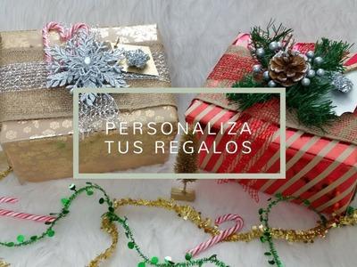 DIY Personaliza Tus Regalos Esta Navidad | Christmas Gift Wrapping Ideas 2018 | Home Deko Channel