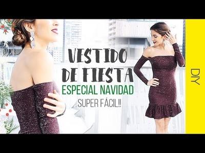 DIY VESTIDO ESPECIAL NAVIDAD | Sin patrones!! | WanderLu Style