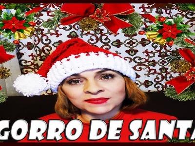 GORRO DE SANTA TEJIDO A CROCHET PASO A PASO