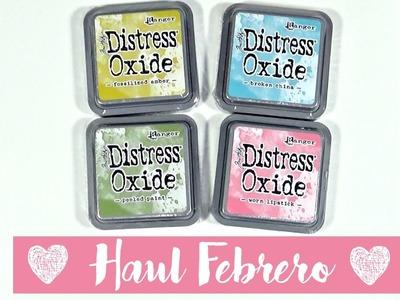 Haul de Febrero | Troqueles, Distress Oxide, sellos y más cosillas
