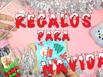 Ideas de regalos para NAVIDAD RÁPIDAS DE HACER!