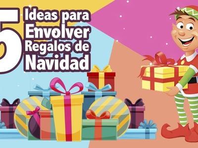IDEAS PARA ENVOLVER REGALOS DE ÚLTIMO MINUTO PARA NAVIDAD - 5 Ideas Originales y Fáciles