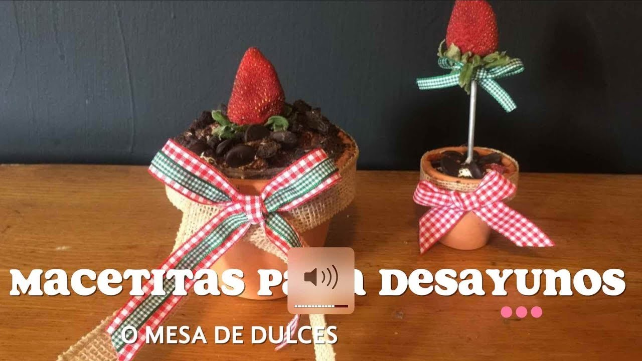 Macetitas para desayuno de navidad o Mesas de dulces