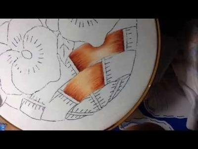 Pintura en tela canasto de pensamientos # 1 con cony
