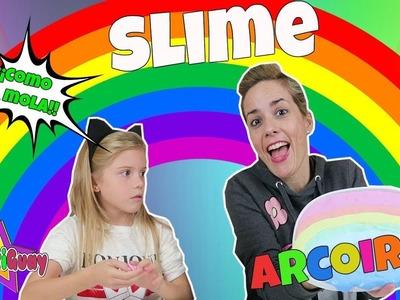 SLIME ARCOIRIS | Giant vs  Mini RAINBOW SLIME!! DIY Slime Grande vs Pequeño