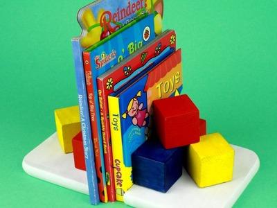 Sujetalibros de madera para libros infantiles