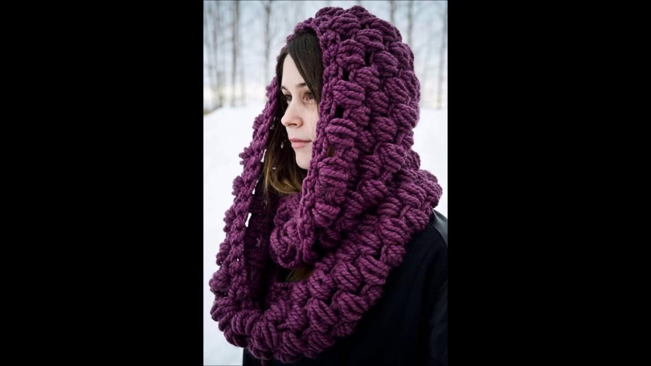 Top 10 crochet bufandas gruesas de lana tejidas a mano con ganchillo
