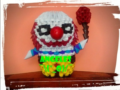 "Tutorial ""Pennywise"" Origami 3D (IT-ESO) PARTE 1"
