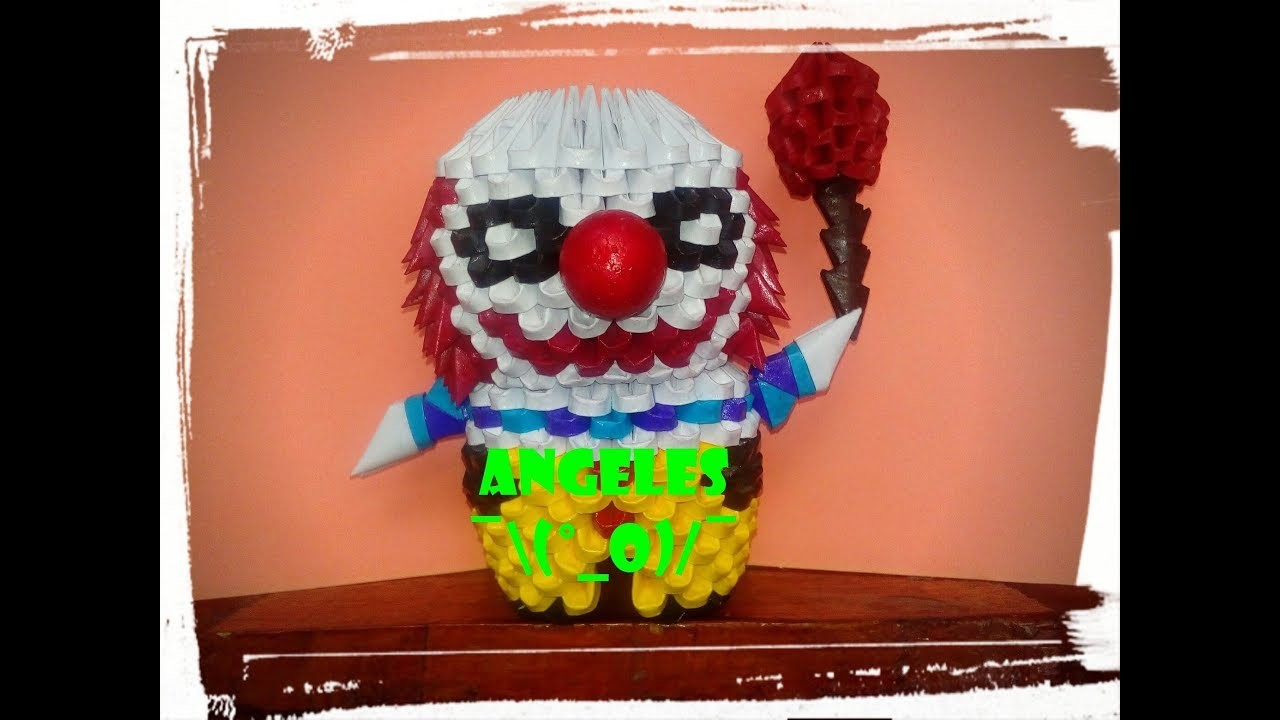 """Tutorial """"Pennywise"""" Origami 3D (IT-ESO) PARTE 1"""