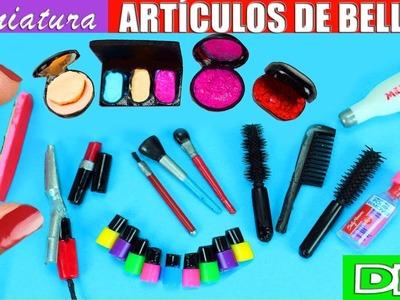 10 Artículos de Belleza en Miniatura - Para el Pelo, Uñas y Maquillaje - 10 Manualidades Fáciles