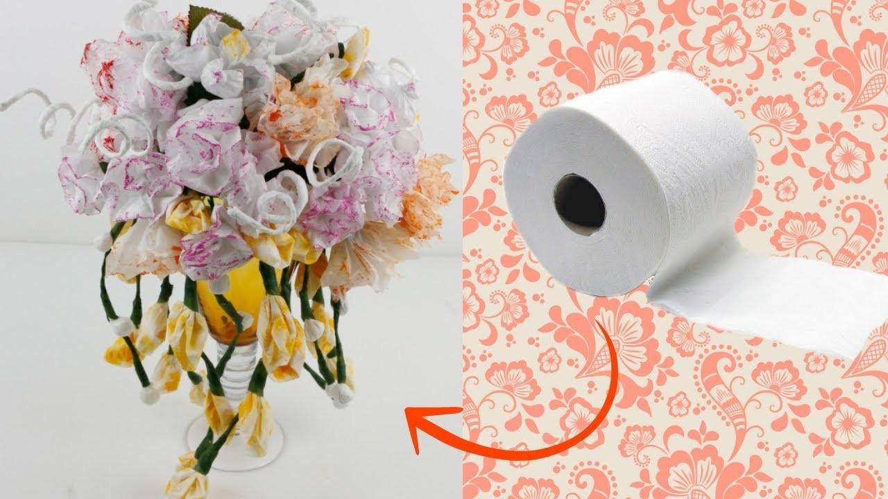8 tipos de flores de papel higiénico