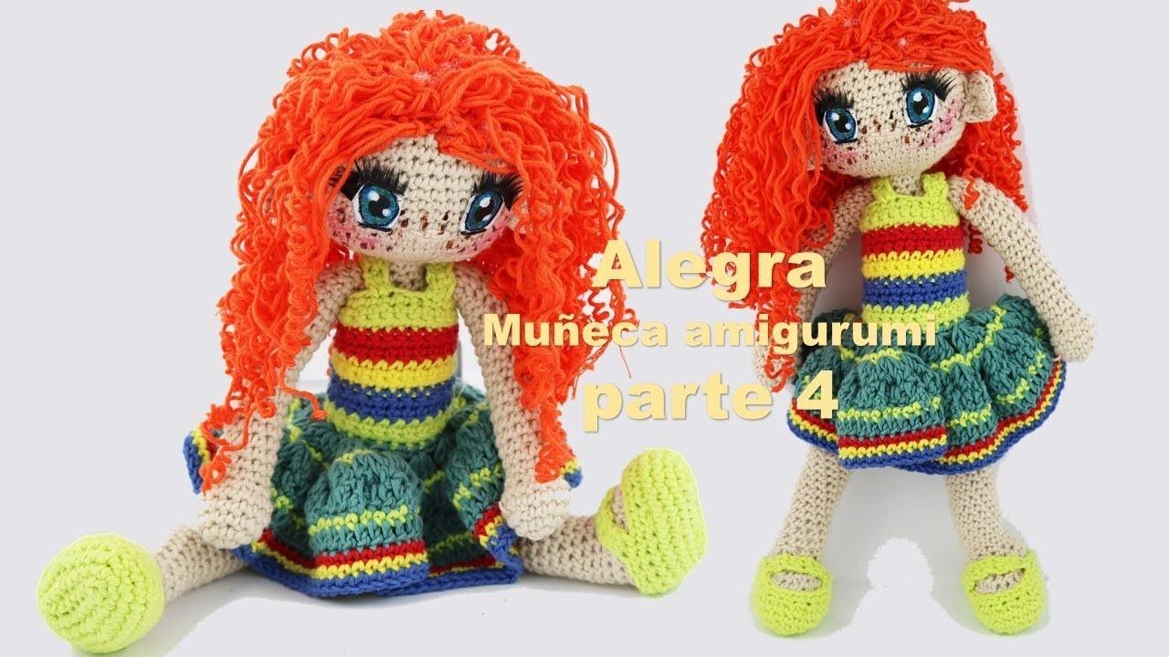 Amigurumi muñeca Alegra a crochet parte 4