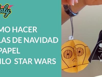 Bolas de navidad de papel estilo Star Wars