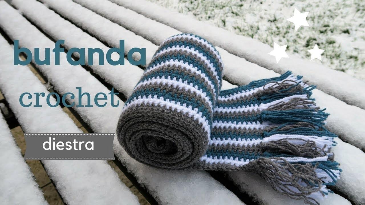 BUFANDA A RAYAS | DIESTRA | CHIC DIY