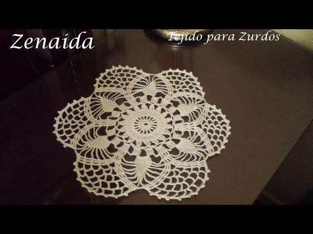 Carpeta para mantel Crochet para Zurdos