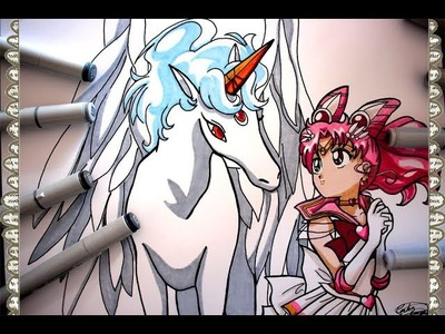 Cómo Dibujar a Pegaso & Chibi Moon How To Draw Pegasus Sailor Moon Super S Helios   CarlosNaranjoTV