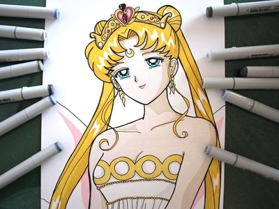Cómo Dibujar Reina Serenity How To Draw Neo Queen Serenity Speed Drawing Sailor Moon Usagi Tsukino