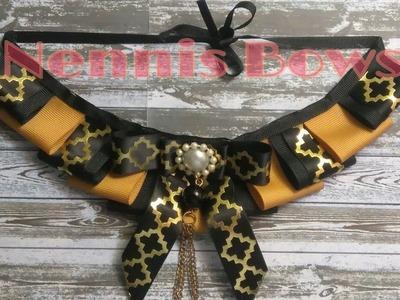 Cómo hacer un COLLAR VICTORIANO | VICTORIAN ribbon NECKLACE ????Nennis Bows????