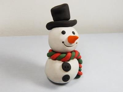 Cómo hacer un muñeco de nieve de plastilina paso a paso fácil, explicado
