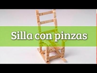 Cómo hacer una silla con  pinzas