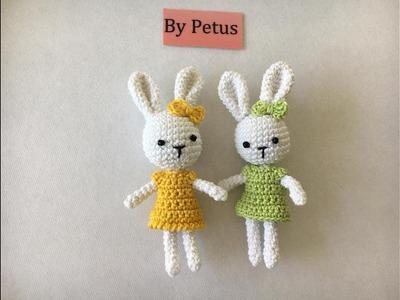 Como tejer coneja en amigurumi By Petus
