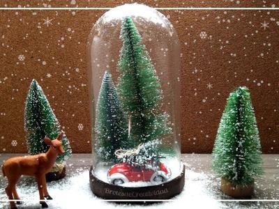 Decoración Navideña o Para Invierno: Bombeta paisaje nevado - Brotes de Creatividad