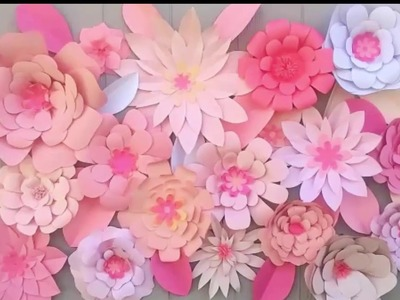 Decoraciones con flores de papel.Backdrop flower ideas