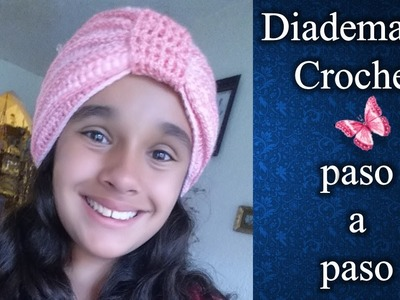 DIADEMA en crochet PASO A PASO