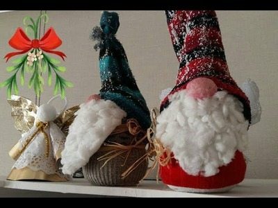 """DIY"" Christmas Gnome Tutorial Super Easy - Tutorial Gnomo de Navidad Super Fácil ""Subtítulos""2018"