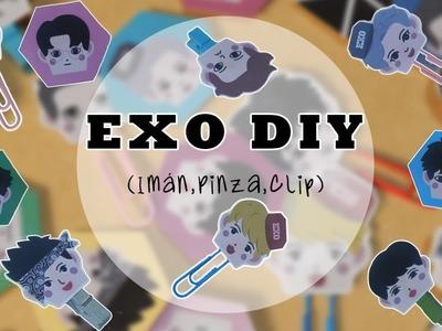[DIY K-POP]: Crea tus propios artículos de Oficina de EXO☆ Imanes☆ Clips☆ Pinzas☆