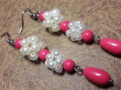 Fáciles y Sencillos Aros con Perlas. Clase #74!!!