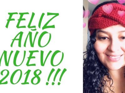 Feliz Año Nuevo 2018 !! ???? Tutorial Vincha Trenza en Crochet