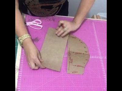 Molde bolsa de franjas Adriana Dourado