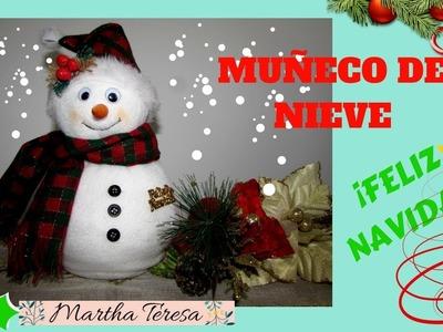 Muñeco de Nieve - DIY ¡super fácil!