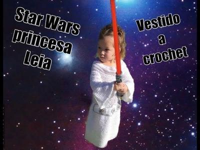 Princesa Leia vestido a crochet parte ( #3) Tejiendo Con Erica