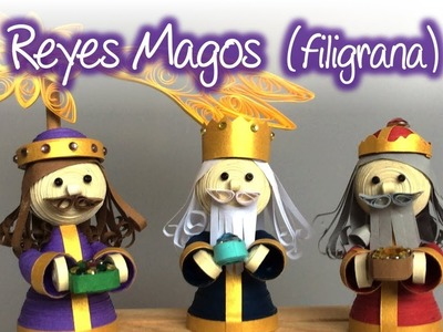 Reyes magos de filigrana, The Three Kings made of quilling
