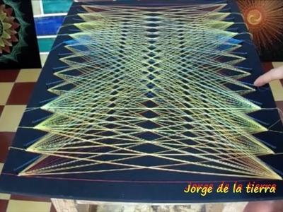String art red fractal by jorge de la tierra
