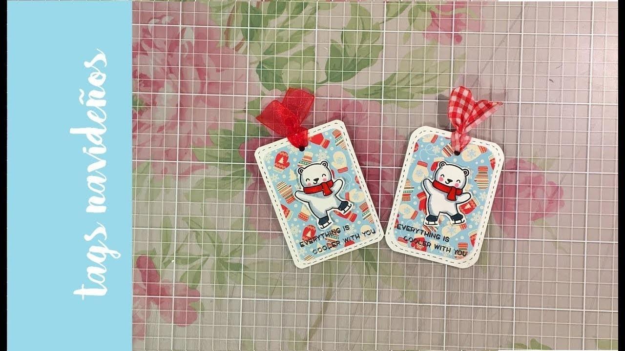 Tags navideños rápidos y fáciles. Easy and quick christmas tags.