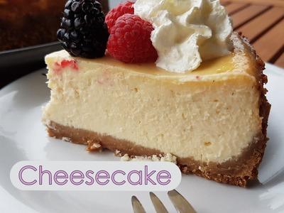 Tarta de queso al horno - Cheesecake estilo New York - Facil - Paso a paso