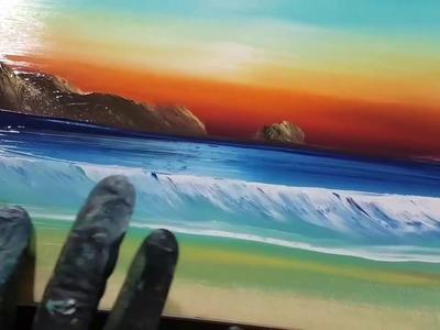 Tutorial de como pintar con los dedos.Finger paint