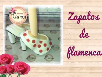 ????Zapatos de flamenca hechos con gomaeva. Creaciones Mamen ????????????