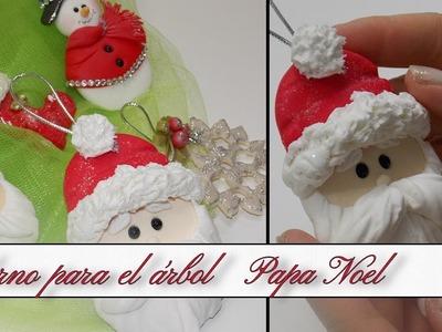 Adorno para el árbol de Navidad Papa Noel | Especial KIDS Porcelana Fria