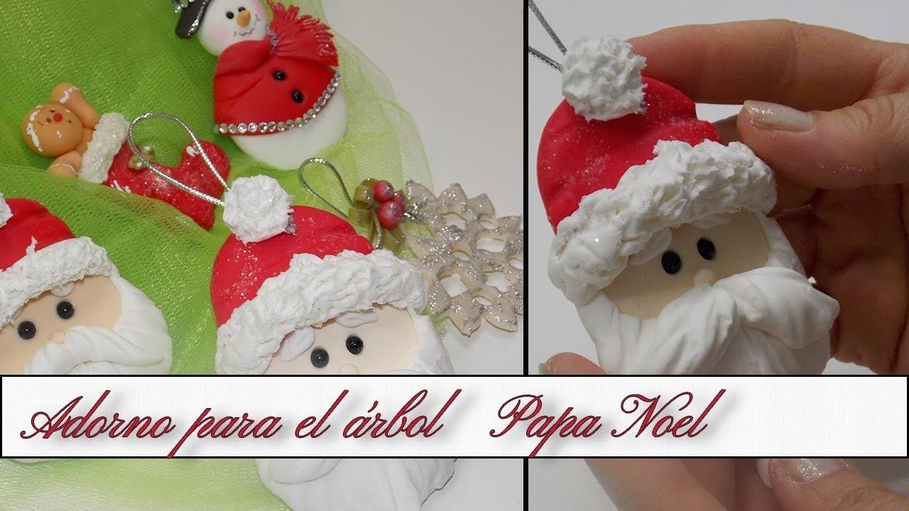 Adorno para el árbol de Navidad Papa Noel   Especial KIDS Porcelana Fria