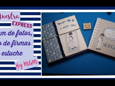 Álbum de comunión y libro de firmas con estuche, Sergio  By MAM