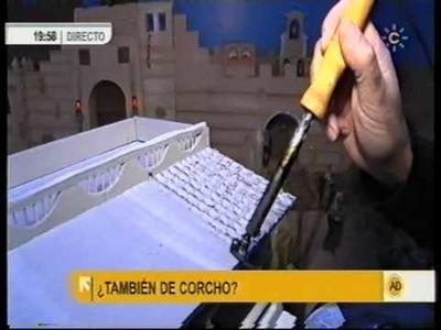 Belen de corcho visto en andalucia directo el lunes 08 11 2010