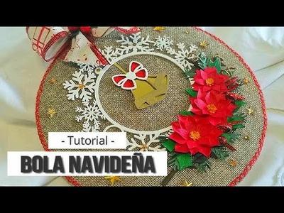 BOLA DE NAVIDAD SENCILLA (COLABORACION KORA PROJECTS) - TUTORIAL   LLUNA NOVA SCRAP