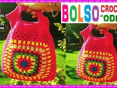 """Bolso a Crochet paso a paso """"Odet"""" Tutorial por Maricita Colours"""