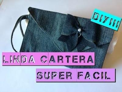 Cartera Super Coqueta de Mezclilla,  Facil. !!! Ultimo video sobre el reciclaje de Pantalon.